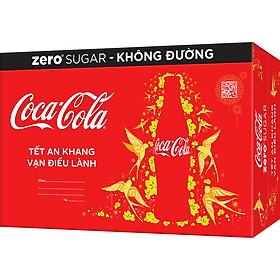 Thùng 24 Lon Nước Giải Khát Không Đường Coca-Cola Zero Phiên Bản TẾT (320ml x 24)