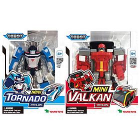 Combo Đồ Chơi Lắp Ráp Mini Tobot Torado Và Mini Tobot Vulcan