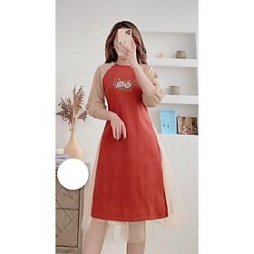 Set Áo Dài Cách Tân Nữ ( set gồm áo dài và chân váy )