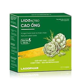 Cao ống Atiso Ladophar Vị ngọt tự nhiên Hộp 10 ống 10ml Giúp mát gan, lợi mật, hỗ trợ tăng cường chức năng gan, giúp cải thiện quá trình tiêu hóa do chức năng gan kém tặng 2 túi trà actiso Premium Ladophar
