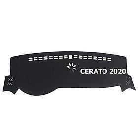 Thảm da Taplo vân Carbon Cao cấp dành cho xe Kia Cerato 2020 có khắc chữ Kia Cerato và cắt bằng máy lazer
