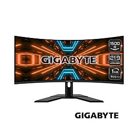 Màn hình Gigabyte G34WQC-EK (34inch/QHD/VA/144Hz/1ms/350nits/HDMI+DP+USB/Loa/FreeSync/Cong) - Hàng Chính Hãng