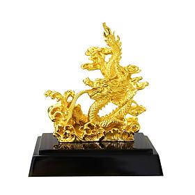 Tượng Rồng vờn mây phong thủy mạ vàng - Quà tặng sinh nhật Sếp, đối tác, khách hàng tuổi Thìn