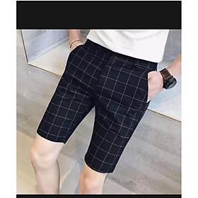 quần short tây âu caro thời trang cao cấp V&N
