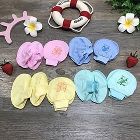 Set bao tay, bao chân cho bé sơ sinh hàng Việt Nam(giao ngẫu nhiên theo từng đợt hàng về)