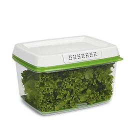 Hộp đựng thực phẩm RUBBERMAID, hộp đựng thức ăn có nắp màu xanh bằng nhựa PP cao cấp loại 4L - Phân Phối Chính Hãng Tại Việt Nam