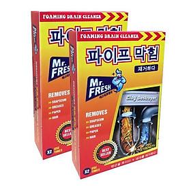 Bộ 2 Hộp Bột Thông Cống Mr. Fresh Hàn Quốc 100g (2 Gói 100g/Hộp)