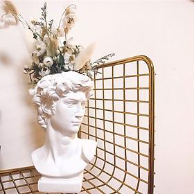 Tượng DAVID cắm hoa, cọ trang điểm 15cm