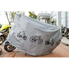 Bạt phủ xe máy che nắng mưa chắn bụi, tấm chùm xe chống thấm chống xước bạt trùm dày loại tốt bạt hoa văn