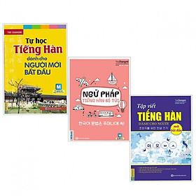 Combo Sách Học Tiếng Hàn: Tự Học Tiếng Hàn Dành Cho Người Mới Bắt Đầu + Ngữ Pháp Tiếng Hàn Bỏ Túi + Tập Viết Tiếng Hàn (Học Kèm App MCBooks Application) (Cào Tem Để Mở Quà Tặng)