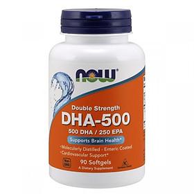 Thực Phẩm Chức Năng Hỗ Trợ Trí Não Double Strength DHA-500 NOW Foods USA
