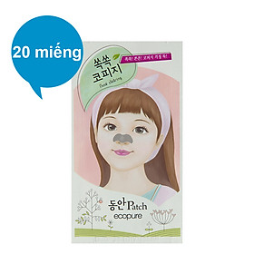 Bộ Miếng Dán Mũi Lột Mụn Cosmocos Flor De Man Ecopure Nose Clearing Patch 20 Miếng