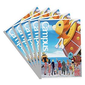 Lốc 5 Vở Viết A4 One Piece Campus NB-A4OS200 Mẫu Ngẫu Nhiên (200 Trang)
