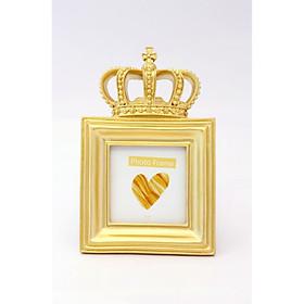 Khung ảnh vương miện vuông màu vàng phong cách cổ điển CROWN 2256-1