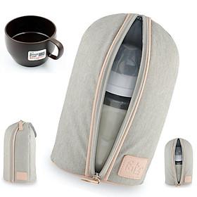 Túi giữ nhiệt bình sữa đơn Fatzbaby (chứa 2 bình sữa cổ hẹp hoặc 1 bình cổ siêu rộng) tặng cốc đựng súp cao cấp