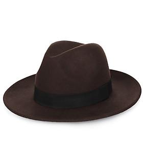 Nón phớt nỉ nam vành rộng 6.5cm nhiều màu MP016 - Tặng đế giữ form mũ