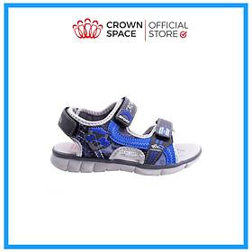 Dép Quai Hậu Cho Bé Trai Đi Học  Thời Trang Cao Cấp Crown Space UK Active Sandals CRUK529 Da Nhẹ Êm Thoáng Khí Thấm Hút Mồ Hôi Cho Trẻ  Size từ 26-35/2-14 Tuổi