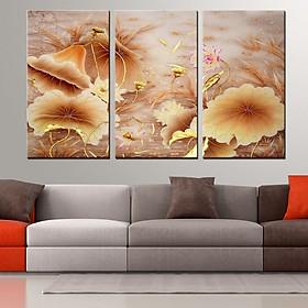 Tranh Canvas treo tường nghệ thuật | Tranh bộ nghệ thuật 3 bức | HLB_078