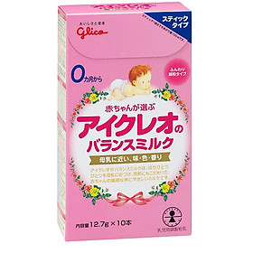 Combo 4 hộp 10 gói Sữa Glico Icreo Balance Milk Stick Số 0 (12.7g) và đồ chơi tắm Toys House-1