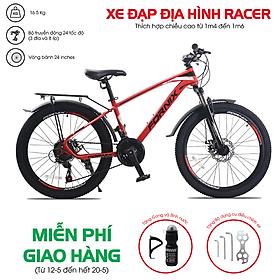 Xe đạp địa hình hiệu FORNIX Racer, vòng bánh 24', màu Đen đỏ