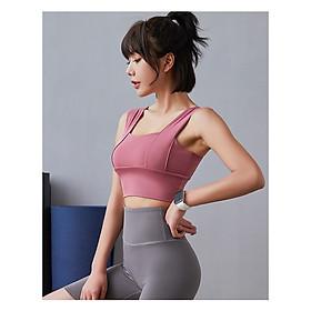 Áo tập Gym, Yoga, Thể Thao Nữ Croptop Bra Sẵn Lót Ngực A04 Cao Cấp