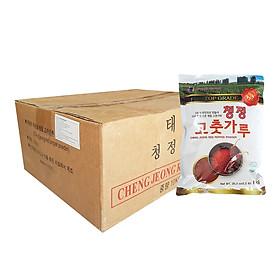 Thùng 10 Gói Ớt Bột Vảy (Cánh) Hàn Quốc CHENG JEONG - Ớt Bột Làm Kim Chi
