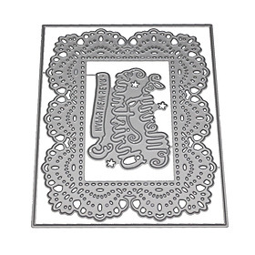 MERRY CHRISTMAS Frame Carbon Steel Cutting Dies Christmas Decoration Scrapbook 2018 New