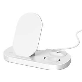 Foldable Wirelessly Charger 3 in 1 High Speed Wirelessly Charging Station 15W Fast Charge Folding Charging Dock