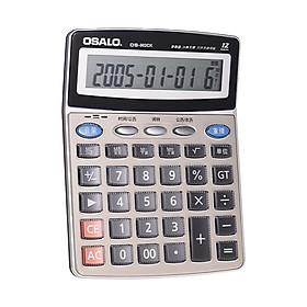 Máy Tính Để Bàn Đa Năng Osalo Os-802 Có Báo Thức Màn Hình LCD (12 Đơn Vị)