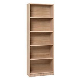 Kệ sách 5 tầng JYSK Horsens gỗ công nghiệp màu sồi 70x197x30cm