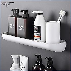 Kệ nhà tắm dán tường HT SYS-ECOCO-E1923-chất liệu ABS cao cấp kèm thanh treo khăn SUS 304