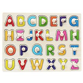 Đồ chơi núm gỗ bảng chữ cái cho bé