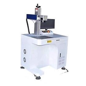 Bộ máy khắc laser fiber kim loại và trên nhiều chất liệu Aturos MAX 03 khắc logo, hình ảnh, date, số lô, mã vạch (Tích hợp kệ bàn) - Hàng nhập khẩu
