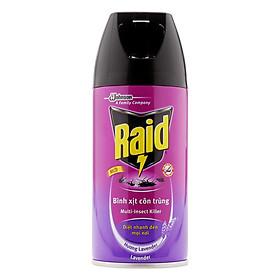 Xịt Côn Trùng Raid Hương Lavender 300ml
