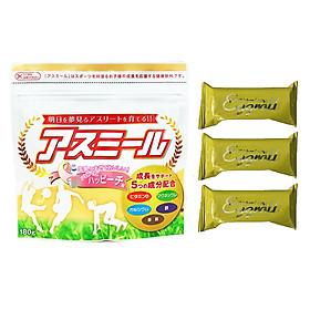 Sữa Tăng Trưởng Chiều Cao Vượt Trội Asumiru Nhật Bản 180g - Vị Đào ( cho bé 3-16 tuổi ) – Tặng 03 bánh quế cuộn hiệu Kapad
