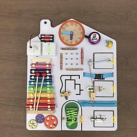 Busy Board Đồ chơi giáo dục sớm cho bé từ 1 đến 3 tuổi(Cỡ 40x50cm)
