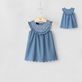 Đầm jean bé gái có thêu 011450