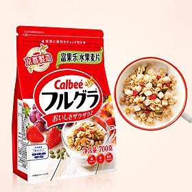 Ngũ cốc trái cây ăn kiêng Calbee Nhật Bản 700gr - Màu đỏ Hàng chính hãng