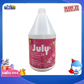Nước Giặt Xả July 2X Sweet Pink - 3500ml Hồng