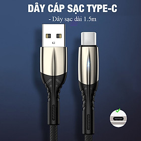 Cáp sạc truyền dữ liệu, đầu sạc Type C / linghtning / micro USB dành cho iphone (hỗ trợ sạc nhanh 3A)
