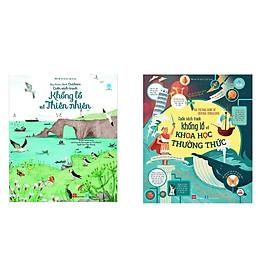 Combo sách cùng bạn khám phá bí mật của thế giới rộng lớn (bộ 2 cuốn): Big Picture Book of General Knowledge - Cuốn sách tranh khổng lồ về khoa học thường thức +  Cuốn sách tranh khổng lồ về thiên nhiên