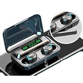 Tai Nghe Bluetooth 5.0 CAPARIES V15-F95 LED - (Tai Nghe Không Dây) Chống Nước - Chống ồn - Tích Hợp Micro - Tự Động Kết Nối - Nhỏ gọn - Âm Thanh 8.0 HD - Tương Thích Cao Cho Tất Cả Điện Thoại CHÍNH HÃNG