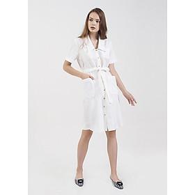 Đầm Sơmi 2 Túi Cổ Tim Marc Fashion - CH101018