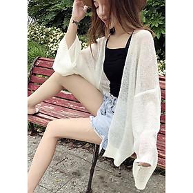 Áo carddigan len lưới mỏng phong cách Hàn Quốc