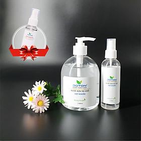 Combo xịt rửa tay khô diệt khuẩn 100ml và 500ml Tặng 01 chai nước rửa tay khô 30ml - Joton Hand Sanitizer