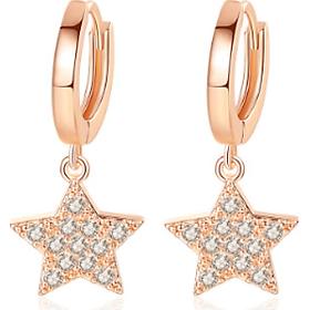 Bông tai khuyên tai bạc S925 ngôi sao năm cánh