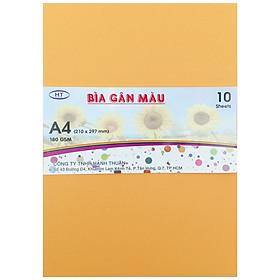 Bìa Gân A4 HT 180gsm - Cam Nhạt