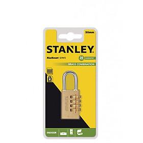 Ổ Khóa 4 mã số Stanley USA, đồng thau, rộng 30mm - S742-052