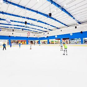 Vé vào cửa + Gói thuê giày trượt + Thuê công cụ hình hải cẩu tại Sân băng Vincom Ice Rink Landmark 81 - Áp dụng thứ bảy, chủ nhật