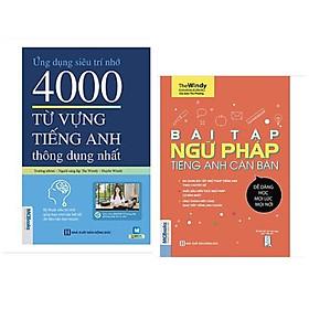 Combo sách Tiếng Anh: Ứng Dụng Siêu Trí Nhớ 4000 Từ Vựng Tiếng Anh Thông Dụng Nhất + Bài Tập Ngữ Pháp Tiếng Anh Căn Bản